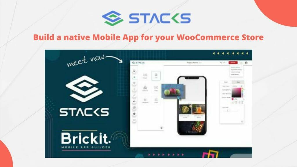 stacks mobile app for woocommerce store lifetime deal